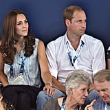Kate lovingly placed her hand on William's knee on Monday. Keep scrolling for more photos from the royal family's two days at the Games!