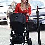 Hilary Duff loaded Luca Comrie into his stroller in Studio City.
