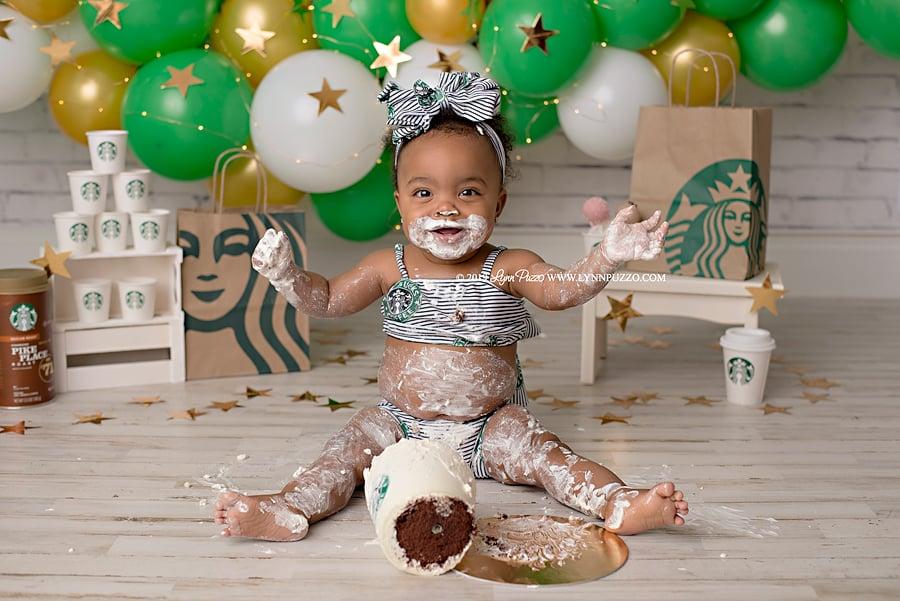 Starbucks Cake Smash Photos