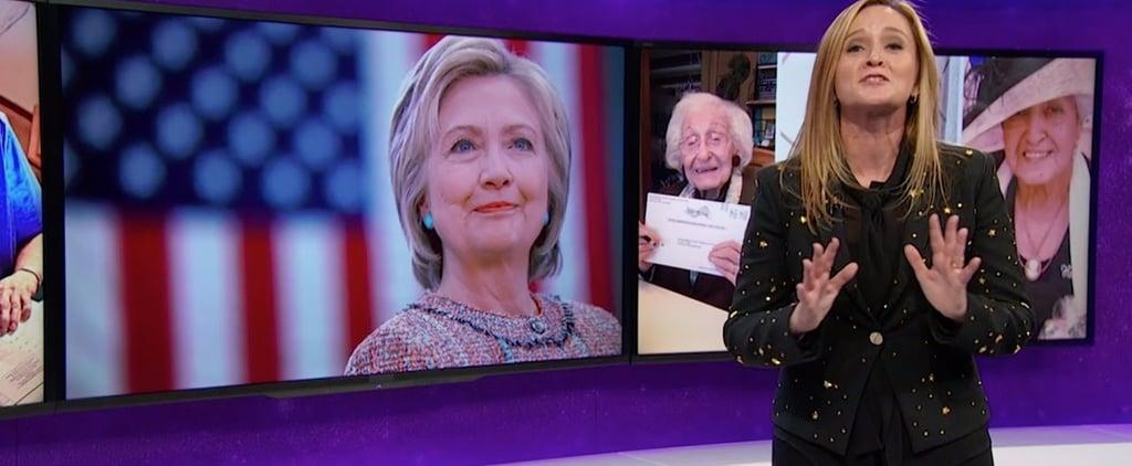 Samantha Bee Endorses Hillary Clinton Day Before Election