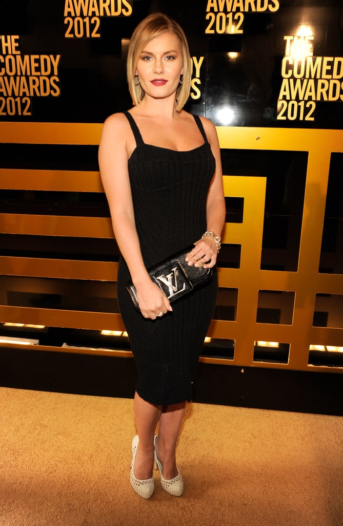 Elisha Cuthbert looked sexy in a LBD at the Comedy Awards in NYC.