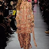 Gigi Wore a Champagne Chiffon Look at Anna Sui