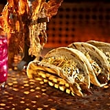 This Meiloorun Juice, Turkey Jerky, and Ronto Wrap filled with spiced grilled sausage and roasted pork can be found at Ronto Roasters.