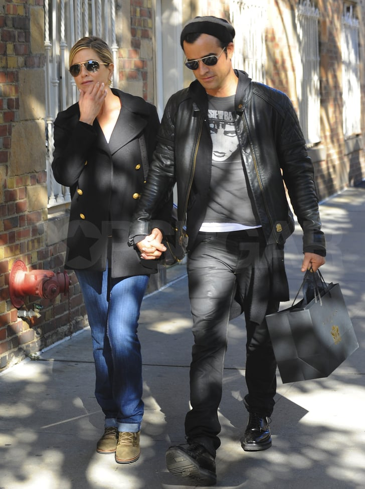 Jennifer Aniston and Justin Theroux together.