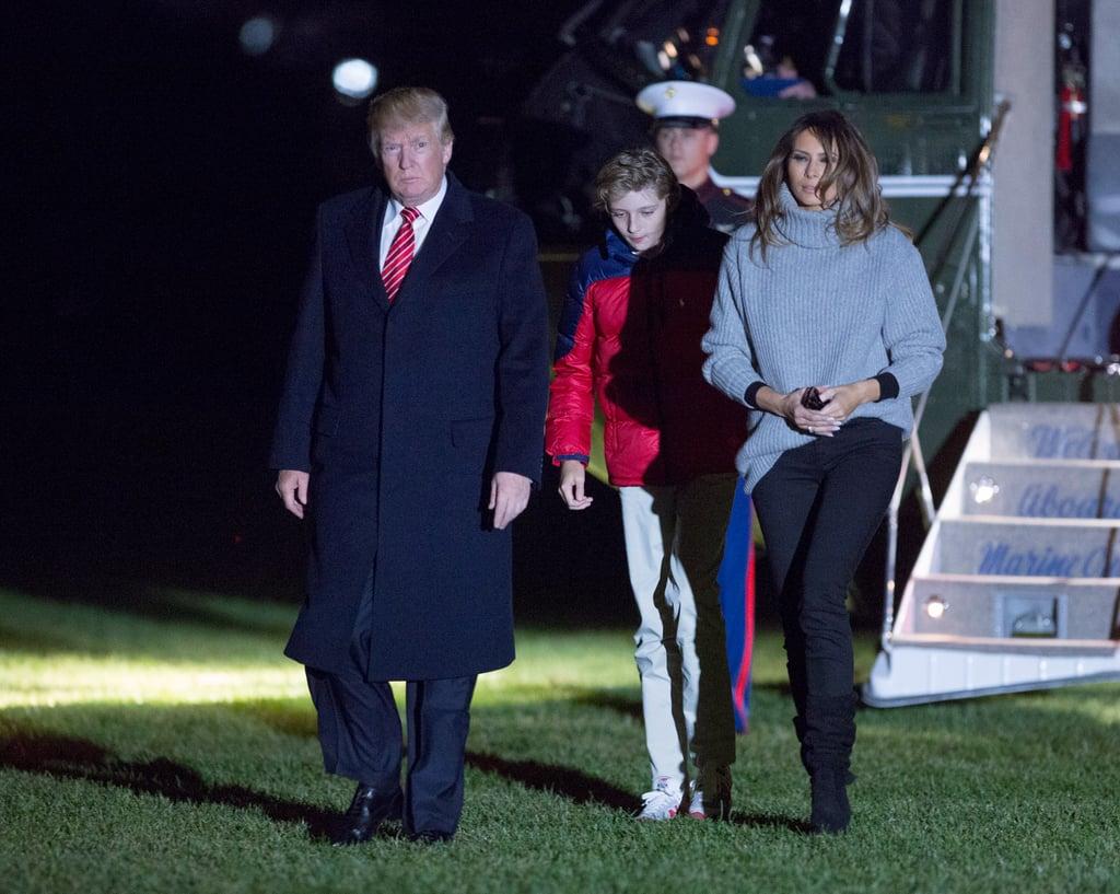 Melania Trump's Black Scrunch Boots