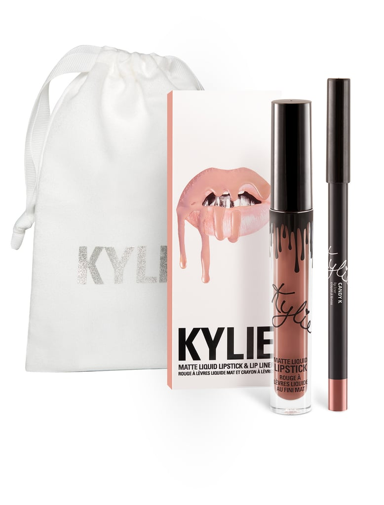 """The coveted Kylie Lip Kits are basically the equivalent of gifting someone a gorgeous pair of diamond studs. If I have an extra of one of the shades in my kit, I like to surprise someone with it — their reaction is priceless. Candy K is a really pretty pink shade that works well on a lot of skin tones. Not too bright, but not too white or dull, so you can't go wrong. And the lip pencil it comes with is one of my favorite textures. So smooth.""  