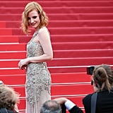 Jessica Chastain Took a Moment to Soak Up the Glamour in Alexander McQueen