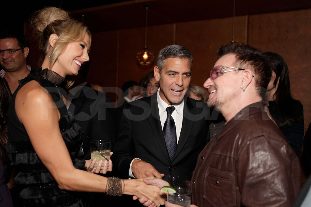 George Clooney and Stacy Keibler at the Toronto Film Festival