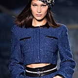 Bella Hadid Modelling the Chanel Cruise 2018/2019 Collection in Paris