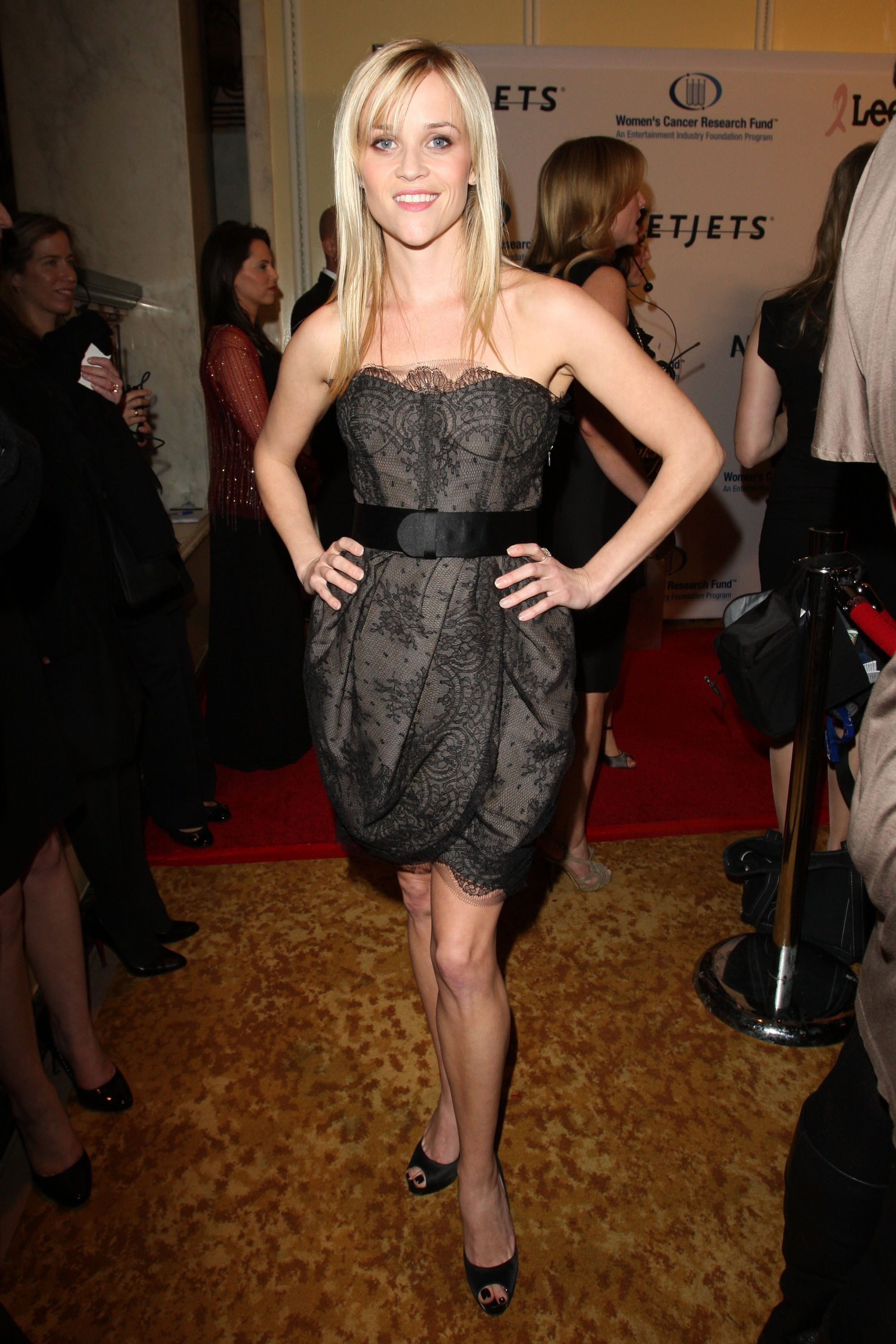Reese chose a sexy lace Jason Wu dress to a cancer research benefit in 2010.