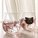 Urban Outfitters Meow Stemless Wine Glass (Set of 2)