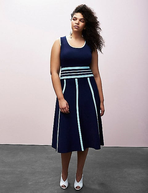 Striped Fit-and-Flare Dress ($128)