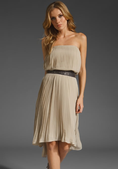 A soft staple that you'll rewear again in the Spring with sandals.  MM Couture by Miss Me Asymmetric Pleated Dress ($94)