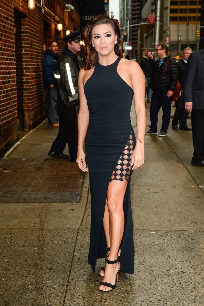 Eva Longoria's Dress on The Late Show Feb. 2016