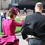 فستان كيت ميدلتون خلال زفاف الأميرة يوجيني 2018