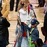 Beyoncé's Courtside Robe
