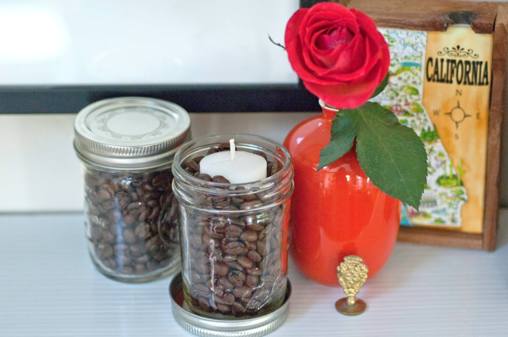 Coffee-Vanilla Candle Jars