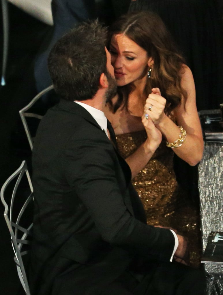 Jennifer kissed Ben after his January 2013 SAG Award win for Argo.