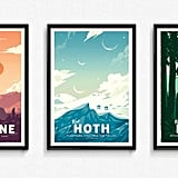 Star Wars Retro Travel Posters