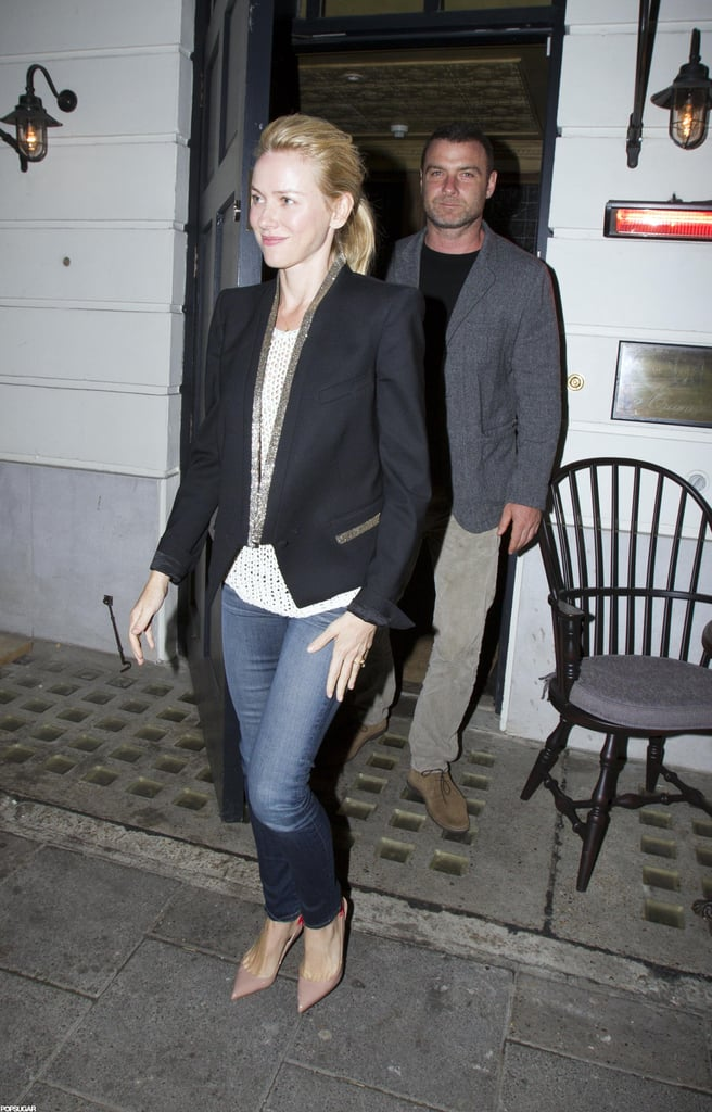 Naomi Watts and Liev Shreiber left a London club together.