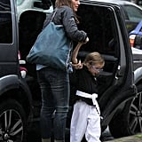 Jennifer Garner brought Seraphina Affleck to karate.