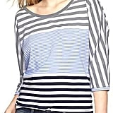 Gap's Multi-Stripe Dolman Tee ($30) is universally flattering.