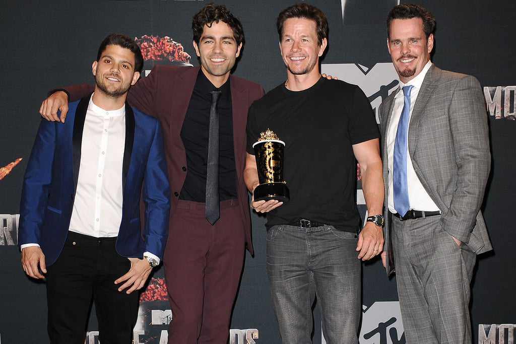 "The gang is together again! The boys of Entourage took a break from filming the movie version of their hit HBO show to present Mark Wahlberg with his generation award — or, as Wahlberg put it, ""the you're too f*ck*ng old to come back award."""