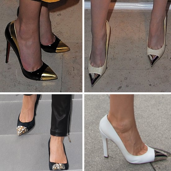 Celebrity Shoe Trend: Louis Vuitton's Toe-Capped Heels Spotted On Kristen Stewart, Gwyneth Paltrow, Dianna Agron and more!