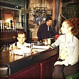 Whitney Cummings snapped a photo of Zoe Lister-Jones and Dan O'Brien on the Whitney set. Source: Instagram user therealwhitney