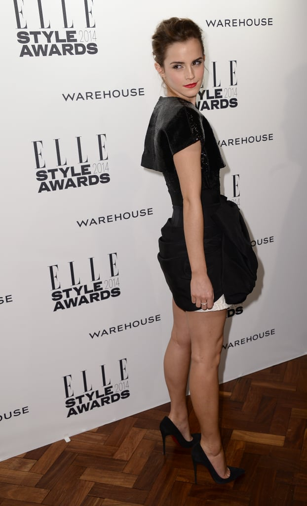 UK Elle magazine gathered a host of beautiful British and international celebrities for the 2014 Elle Style Awards at One Embankment in London today. The annual style celebration always draws a good-looking crowd, and this year was no different, with Rita Ora, Ellie Goulding, models Cara Delevingne and Arizona Muse, and cover girl Lily Allen among the guests. Emma Watson walked the red carpet in an architectural black dress, just over a month after making her red carpet return at the Golden Globes in a dress-over-pants ensemble that divided fashion critics; inside the event she linked up with another busy awards season attendee, Pharrell Williams. Another star arrival was Suki Waterhouse, who was fresh off walking the Burberry runway at London Fashion Week, where she had boyfriend Bradley Cooper supporting her in the front row. Keep scrolling for more glamorous photos from the Elle Style Awards.