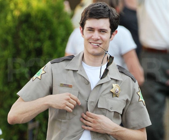 Slide Picture of Adam Brody Filming Scream 4 in Detroit