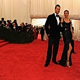 Tom Brady and Gisele Bundchen took on the stairs at the Met Gala in NYC.
