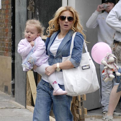 Geri Halliwell and Daughter Bluebell Shopping London