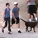 Anne Hathaway and Adam Shulman were in Runyon Canyon.