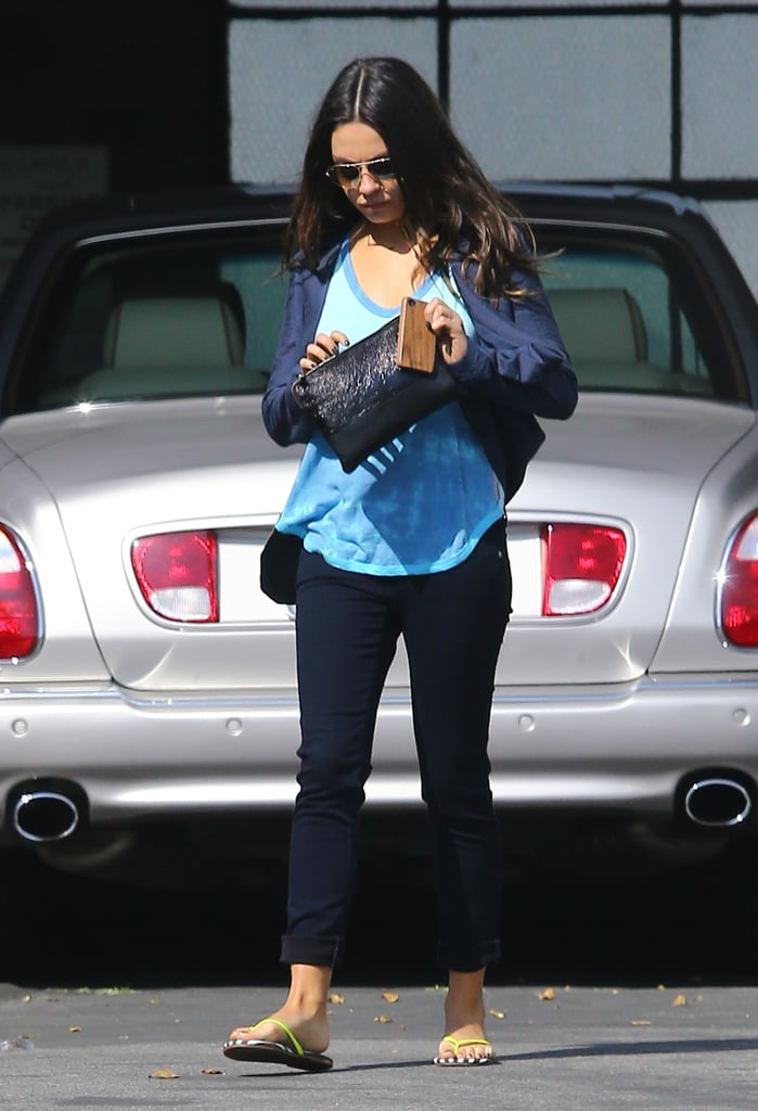 Mila Kunis Keeps Busy in LA Prepping For Oz Press