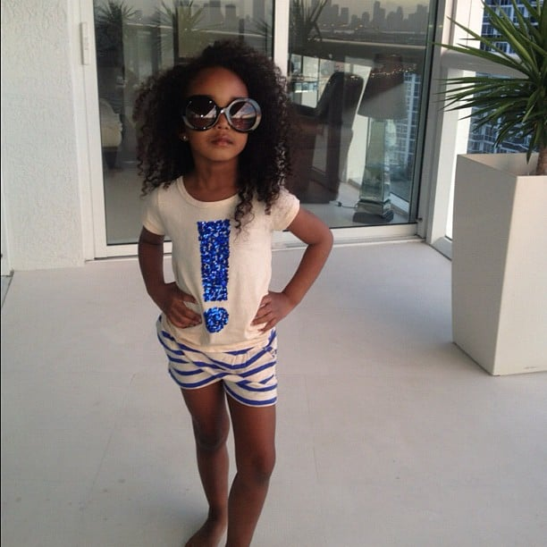 Diddy snapped a pic of one of his daughters striking a pose. Source: Instagram user iamdiddy