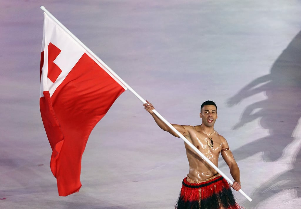 Tongan Flag Bearer at 2018 Winter Olympics Pictures