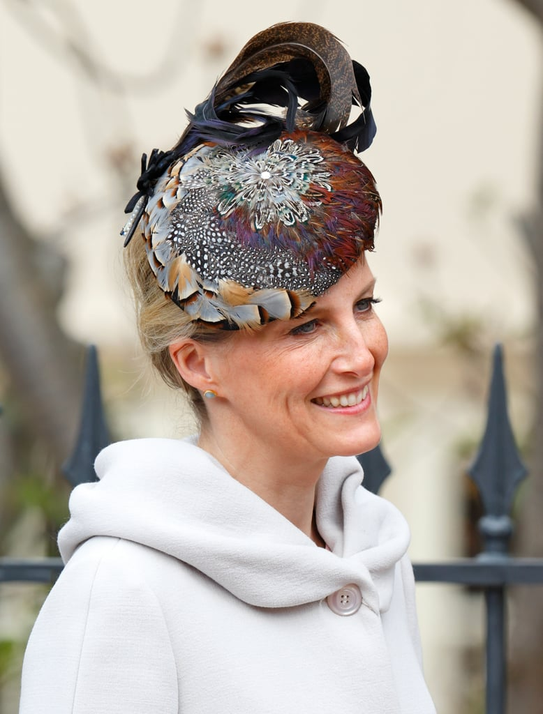 Sophie, Countess of Wessex, attended an Easter service in 2015 wearing this fun feathered number.