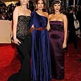 Amber Valletta, Eva Mendes, and Rashida Jones made a fashionable trio at the 2011 Met Gala.
