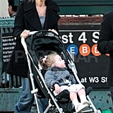 Sarah Jessica Parker with Loretta in NYC.