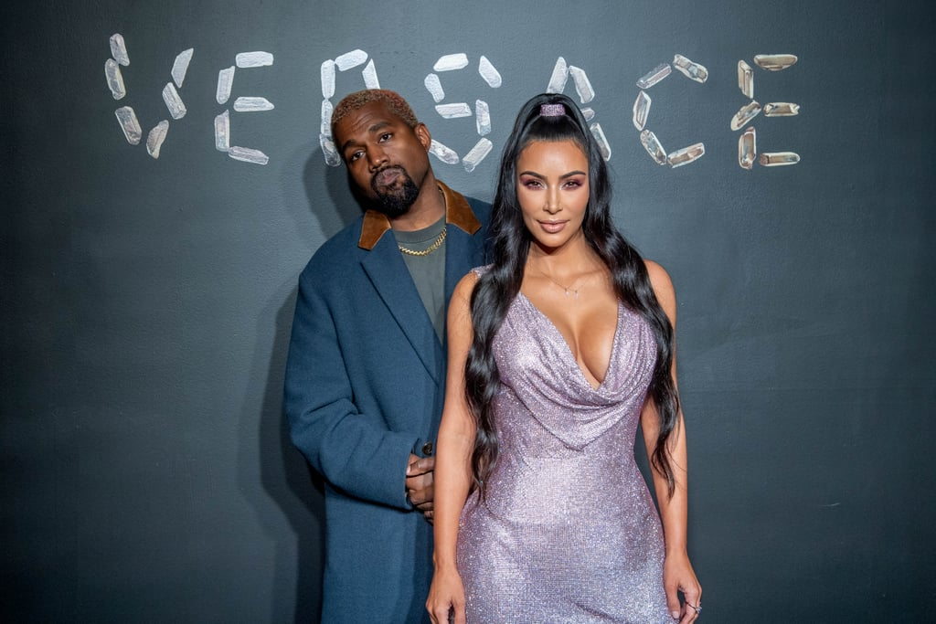 "It was date night for Kim Kardashian and Kanye West at the Versace pre-Fall fashion show in NYC on Sunday night. As per usual, Kim looked all sorts of sexy in a sparkly minidress, and the couple struck their signature red carpet pose as Kanye stood behind his wife and made silly faces for the cameras. Also at the event were Kim and Kanye's pals rapper Young Thug and 2 Chainz and his wife, Kesha Ward.  It's been two years since Kim's harrowing Paris robbery, and on Sunday night's episode of Keeping Up With the Kardashians, the 38-year-old reality TV star reflected on her choice to return this past Summer for the Louis Vuitton men's show. ""I have so many special memories in Paris,"" Kim said after she decided to support their friend and designer Virgil Abloh at his first runway show. ""For a second, I was like, I was so stressed out over my security, just the movement of everyone. But other that, it was fine. I didn't really have a lot of anxiety . . . I don't think I'll ever really forget my experiences in Paris — the good or the bad — and I think that's OK. It all has made me who I am. Thinking about it, I think I could go back and spend more time and feel safe and comfortable."" We're glad to hear Kim is in much better spirits!"
