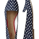 Gap Navy-and-White Polka-Dot Pointy-Toe Flats