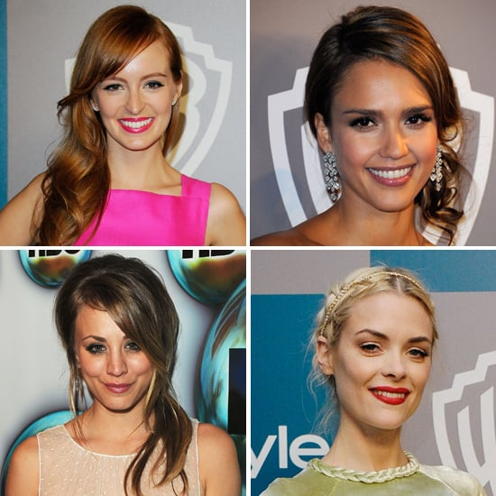 Pictures of Celebrities, Hair and Makeup Looks from the 2012 Golden Globes After Party