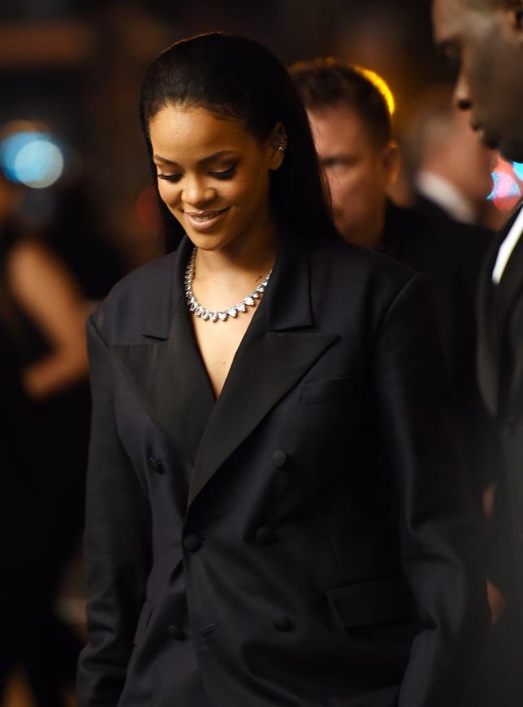 Rihanna Wearing John Galliano For Maison Margiela at the 2015 Grammys