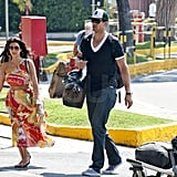 Kris Humphries was without a wedding band leaving Naples, Italy.