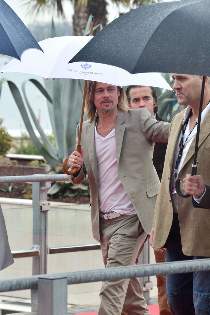 Brad Pitt attended a photocall in Cannes.