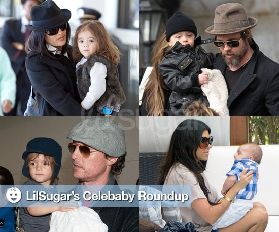 Photos of Brad Pitt With Knox Jolie-Pitt and Salma Hayek With Valentina Pinault