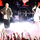 """Eminem and Rihanna heated up the stage with their performance of """"The Monster."""""""