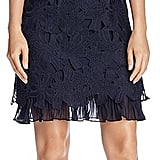 Adrianna Papell Ruffle-Hem Lace Dress