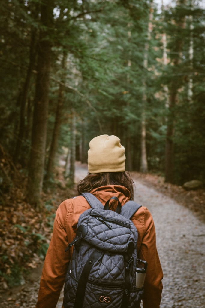 Take a walk by yourself. Stay in the moment, breathe in and out, and slow down.